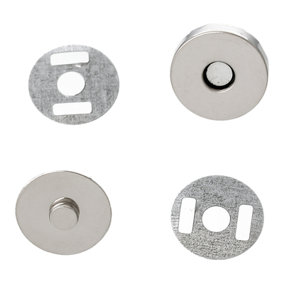 Lot de 5 fermoirs magnétiques avec aimant 14*9mm couleur argenté