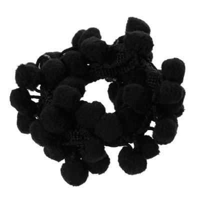 galon à pompons espacés , serrés, noir largeur 15mm