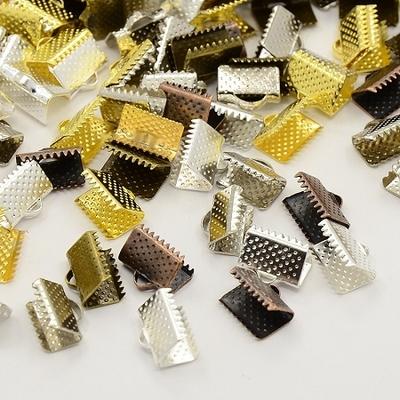Lot de 24 attaches embout griffe sans plomb, couleur mélangée, 10x7x5mm