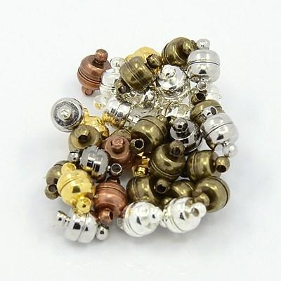 Lot de 5 Fermoirs Magnétiques aimantés  Couleur mélangée 11x7mm