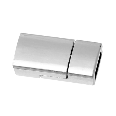 Grand Fermoir aimanté   Rectangle Argent mat, 17.0mm x 8.0mm  pour bracelets