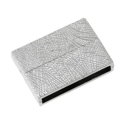 Un Fermoir aimanté  en Rectangle Argent mat, 3.1cm x 23.0mm pour bracelet manchette