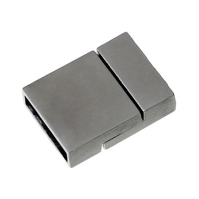 Un fermoir aimanté rectangle couleur gun métal,22.0mm x 16.0mm
