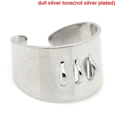 Support de bague avec anneaux en métal argenté Ø16.7mm