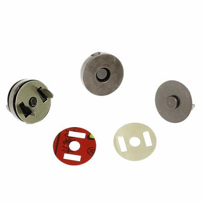 Lot de 4 fermoirs magnétiques avec aimant hématite 18mm couleur gunmétal