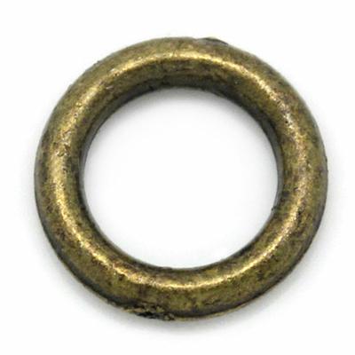 Lot de 50 Anneaux clos 6mm métal couleur bronze