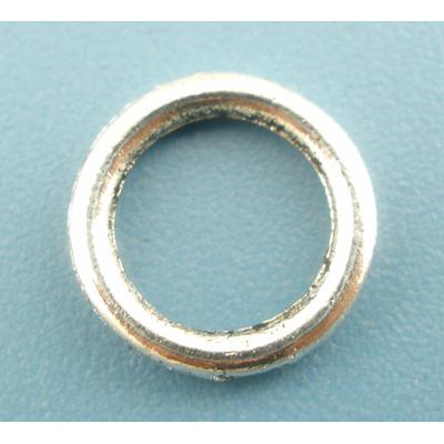 Lot de 24 Anneaux de jonction clos en métal argenté 8mm