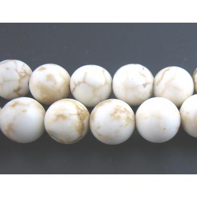 Lot de 10 Perles rondes 8mm en howlite turquoise