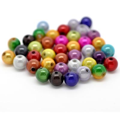 Lot de 30 perles magiques miracle 8mm  couleurs mélangés
