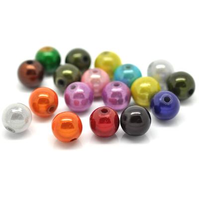 Lot de 10 perles Magiques Miracles 10mm, couleurs variées