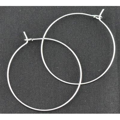 Lot de 10 anneaux créoles pour boucles d'oreilles 40x35mm