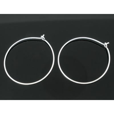 BO45  Lot de 10 anneaux créoles pour boucles d'oreilles   29x25mm