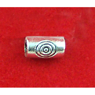Perles  tubes en métal argenté 2x5mm