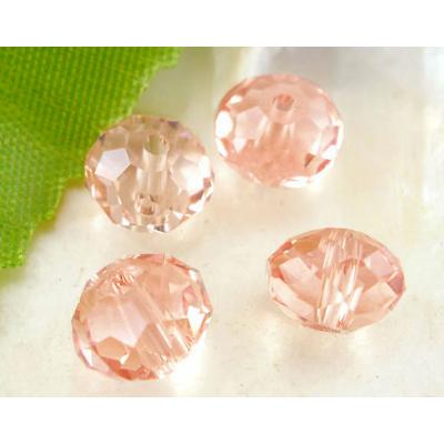 Lot de 12  perles en cristal ronde 8mm Rose
