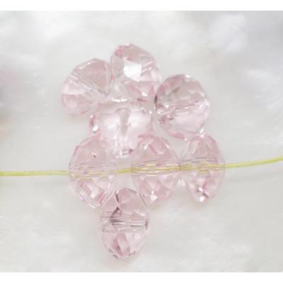 Lot de 12 perles en cristal rondelle 8x6 mm rose pale poudré