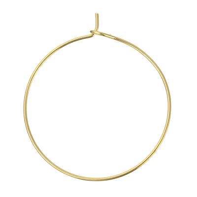 Lot de 10 anneaux créoles dorés pour boucles d'oreilles 29x25mm