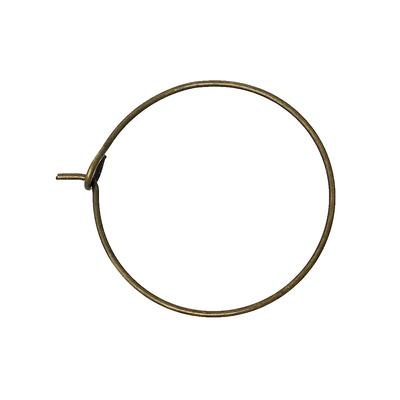 Lot de 10 anneaux créoles pour boucles d'oreilles métal bronze 29mmx25mm