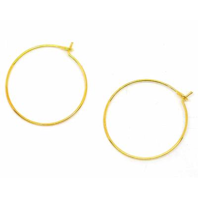 Lot de 10 anneaux créoles pour boucles d'oreilles métal doré 29mmx25mm