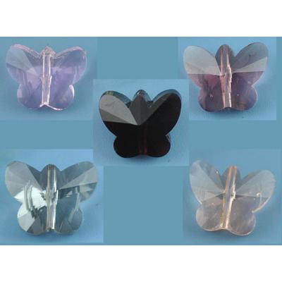Lot de 2 papillons en cristal, 15mm couleur au choix