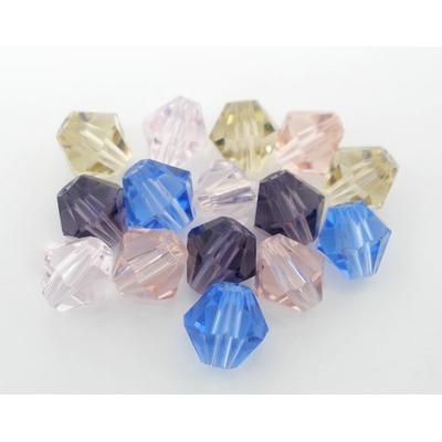 Lot de 30 perles en cristal toupie ou bicone 4mm , couleur au choix