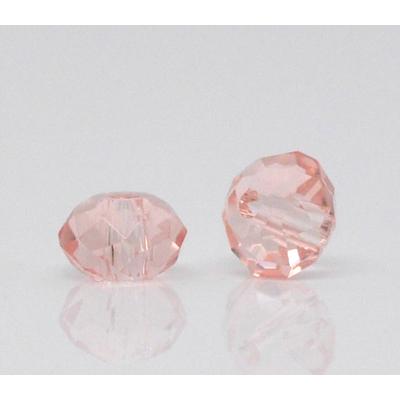 Lot de 20 jolies petites perles en cristal à facettes saumoné 4 mm