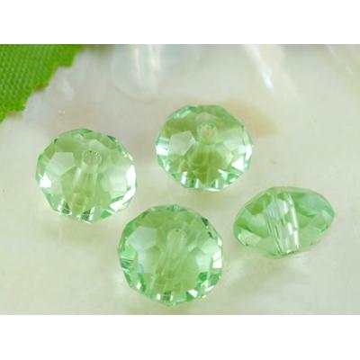 Lot de 12 Perles en cristal rondelle, facette,  8x6 mm