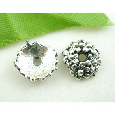 Lot de 10 Coupelles en métal argentés 10mm
