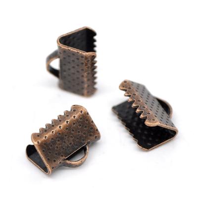 Lot de 26 Attaches Embouts Griffes Rubans couleur cuivre 10x8mm