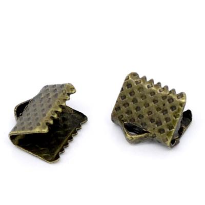 Lot de 30 Attaches Embouts Griffes Rubans bronze 8x6mm