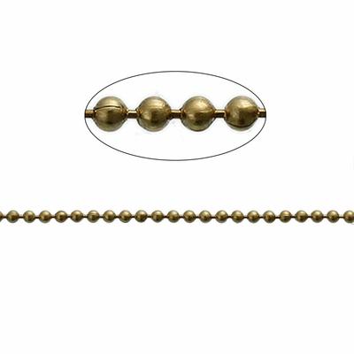 Un mètre de chaîne boule bille en métal couleur laiton