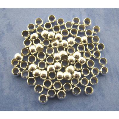 Lot de 140 perles à écraser 3 mm en métal argenté