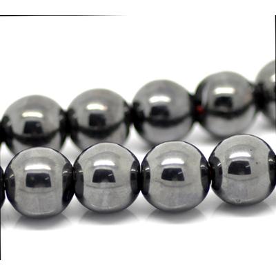 Lot de 10 Perles rondes 10mm en hématite