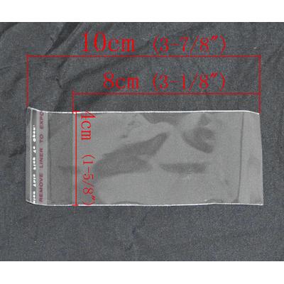Lot de 50 sachets emballages 10x4cm transparent cristal autocollants