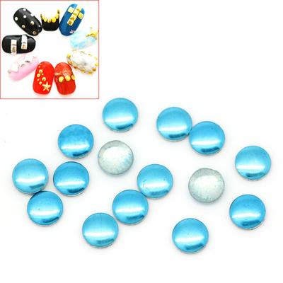 Lot de 100 Strass thermocollant  bleu rond ou clous à coller, stickers 2mm