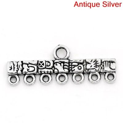 Lot de 2 Connecteurs de bijoux  Forme Rectangle Argent vieilli