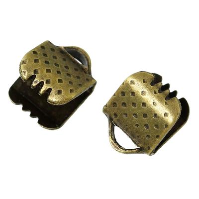 Lot de 30 Attaches Embouts Griffes Rubans métal couleur bronze