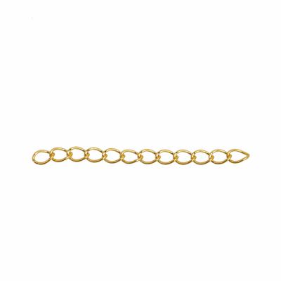 Lot de 20 Chaînes Extension Dorées pour Collier ou Bracelet