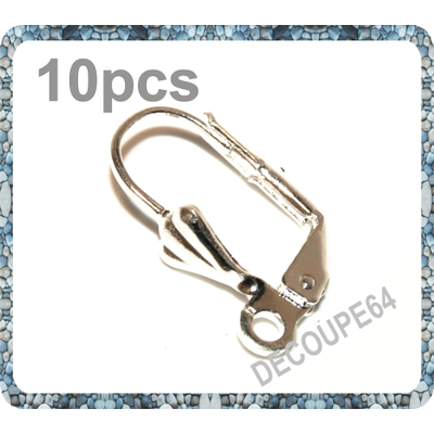 Lot de 10 Dormeuses Supports Boucles d'Oreille  sans nickel