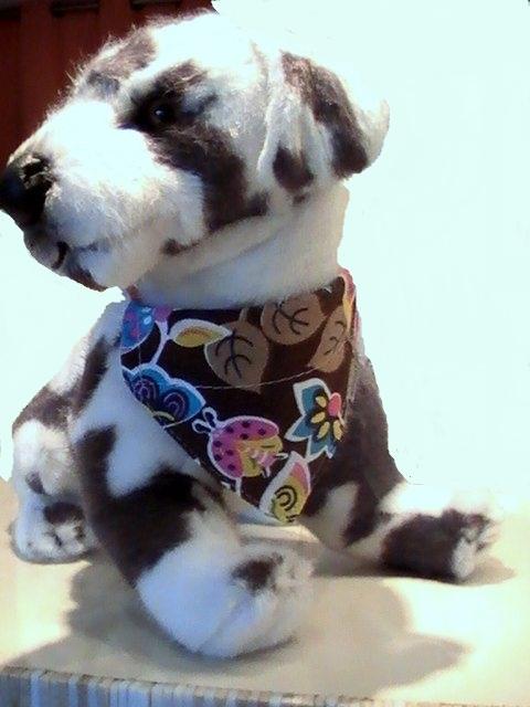 bandana pour chien bandana pour chien marron collier chien. Black Bedroom Furniture Sets. Home Design Ideas