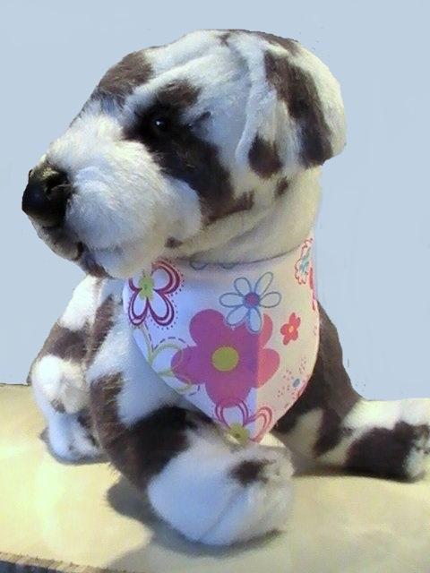 bavoir pour chien bavoir pour chien fleurs serviette chien. Black Bedroom Furniture Sets. Home Design Ideas