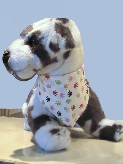 bandana pour chien bandana pour chien empreintes habit chien. Black Bedroom Furniture Sets. Home Design Ideas