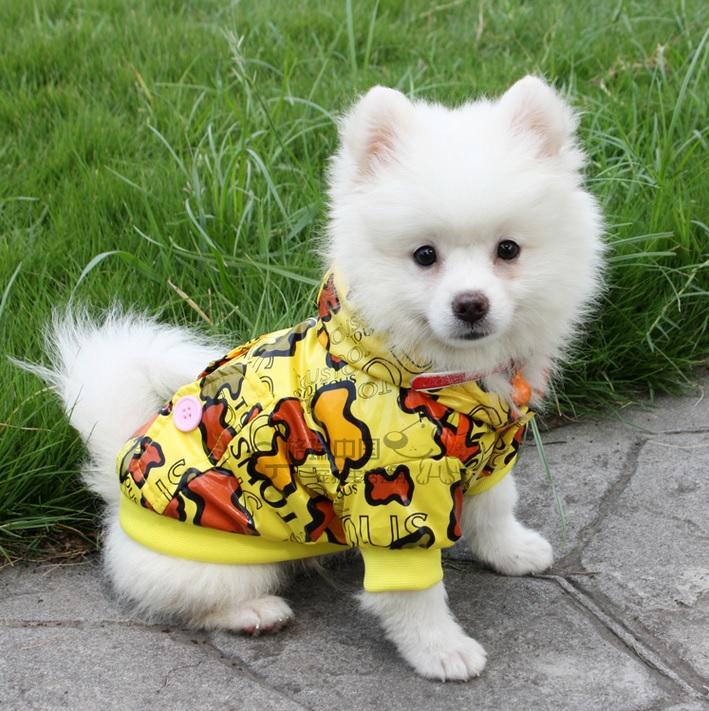 manteau pour chien doudoune jaune pour chien habit pour chien. Black Bedroom Furniture Sets. Home Design Ideas
