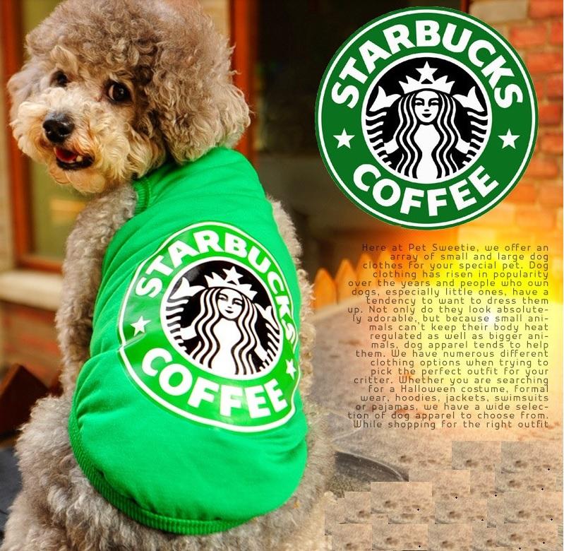 T SHIRT VERT COFFEE POUR CHIEN