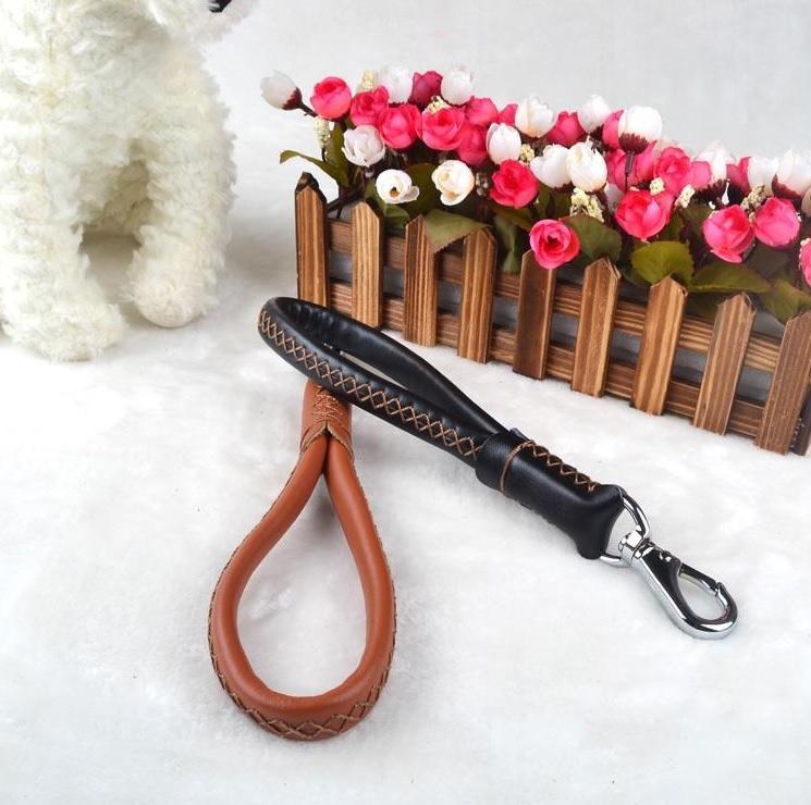 laisse pour chien laisse courte en cuir pour chien. Black Bedroom Furniture Sets. Home Design Ideas