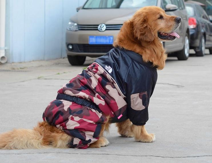 manteau pour chien combinaison de ski camouflage rouge. Black Bedroom Furniture Sets. Home Design Ideas