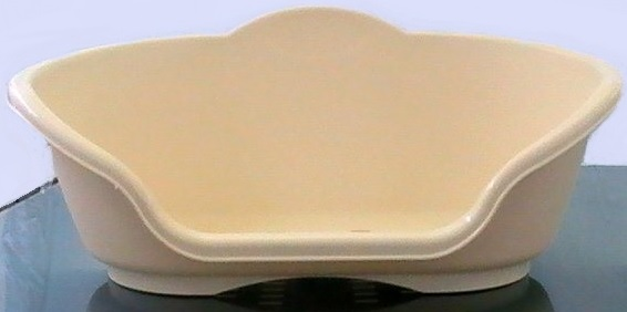 PANIER POUR CHIEN EN PLASTIQUE BEIGE