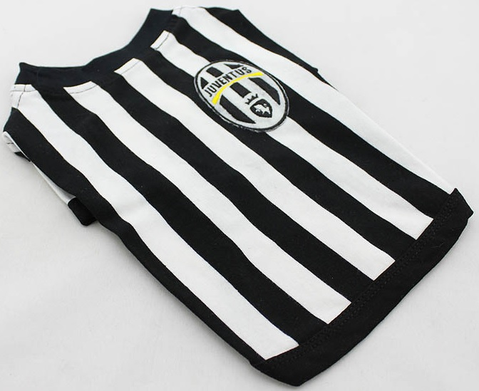 maillot de football pour petit chien t shirt de la juventus. Black Bedroom Furniture Sets. Home Design Ideas