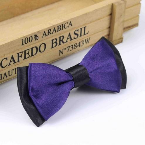 noeud papillon violet et noir pour chien