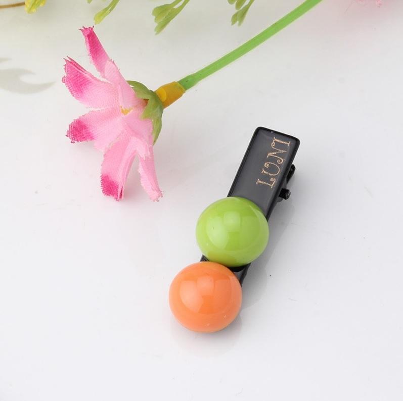 barrette motif bonbon orange et vert pour chien. Black Bedroom Furniture Sets. Home Design Ideas