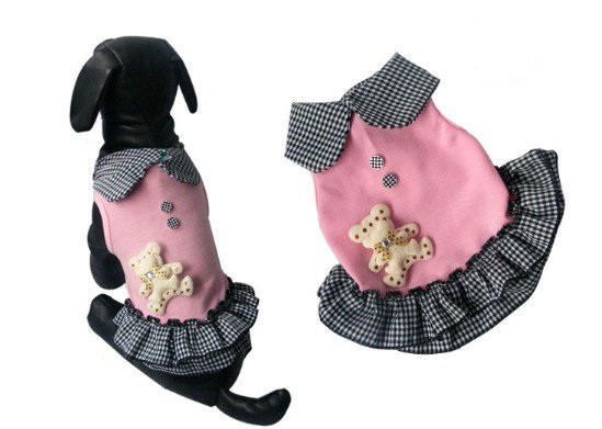 ROBE ROSE OURS POUR CHIEN
